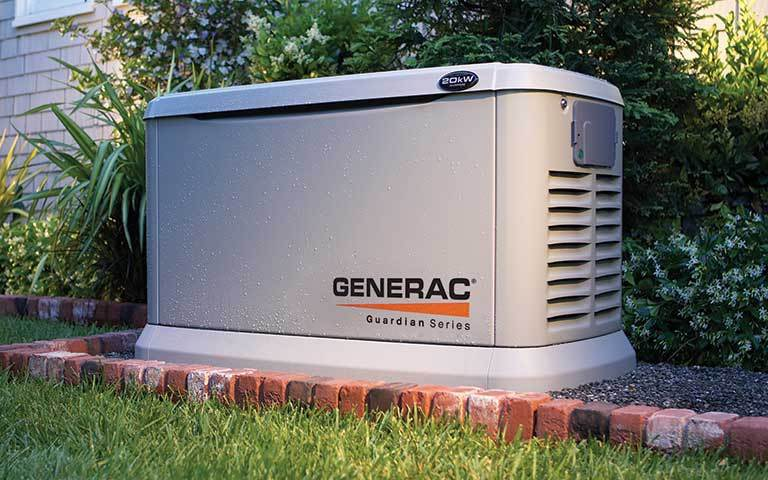 Guardian Series Generac generator outside a home